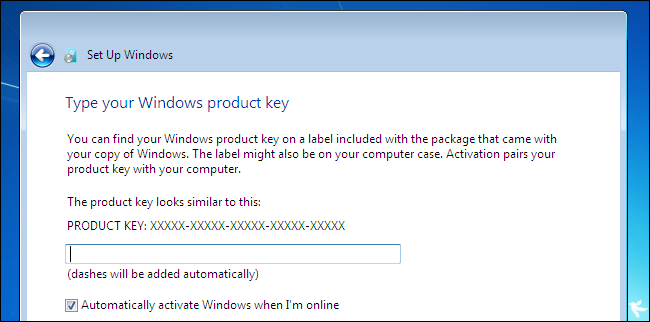 how to enter windows 7 product key code