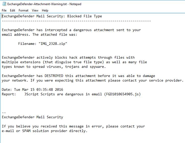 exchangedefender-blocked
